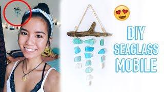 DIY Seaglass Mobile | Summer Room Decor (Beachy, Boho) | Michelle Kanemitsu