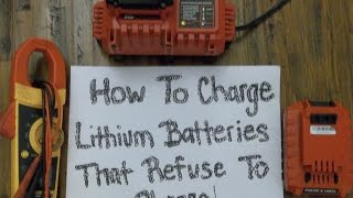 How to charge Porter Cable 20V Lithium Batterys that wont charge! Easy!
