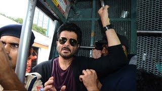 Anil Kapoor Travels in Mumbai Local Train To Promote 24