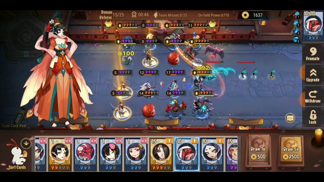Onmyoji Arena - Shikigami Defense Nightmare Wave