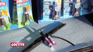 How to Fix Windshield Wipers with Loctite Super Glue Plastic Bonding System
