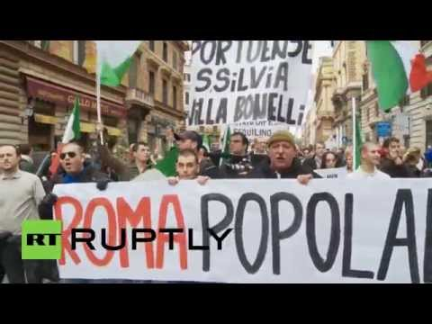Italy: Anti-immigration activists make their presence felt in Rome