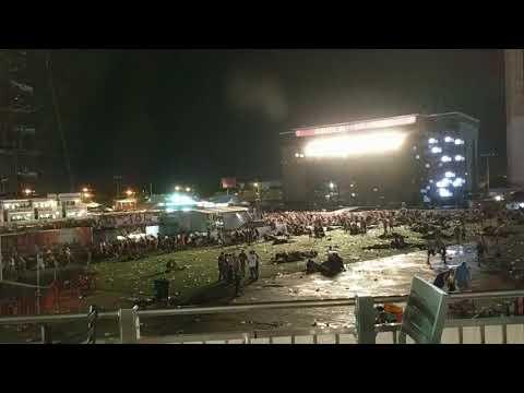 Las Vegas Shooting Mandalay bay stage view- bullets hitting ground