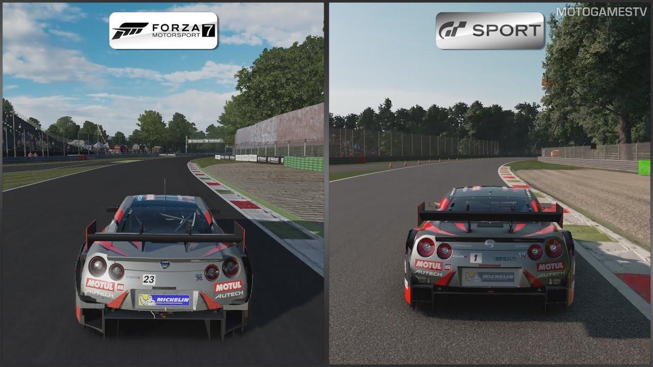 Forza Motorsport 7 vs Gran Turismo Sport - Nissan MOTUL ...