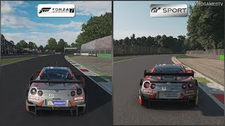 Forza Motorsport 7 vs Gran Turismo Sport - Nissan MOTUL AUTECH GT-R at Monza