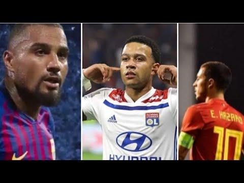 Depay et Aulas fracassent les supporters de l'Asse, hazard avec messi et Ronaldo ? Boateng barca