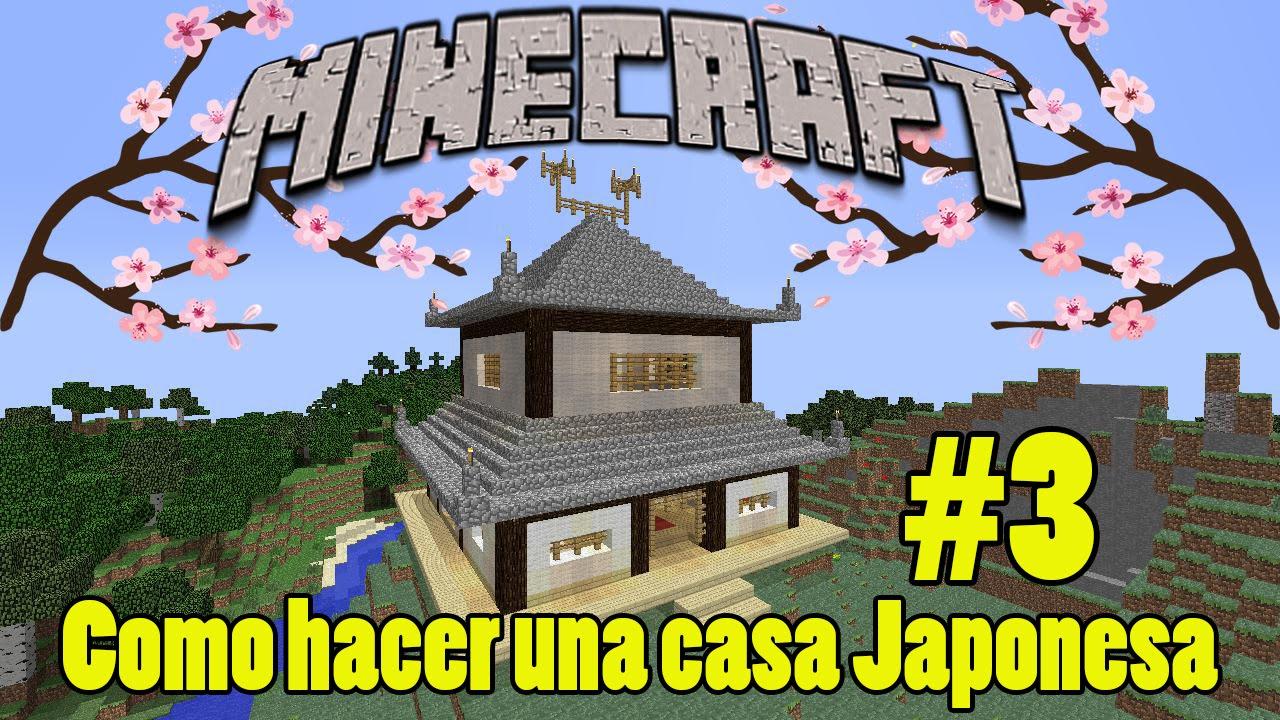Como Hacer una Casa Japonesa en Minecraft 3  YouTube