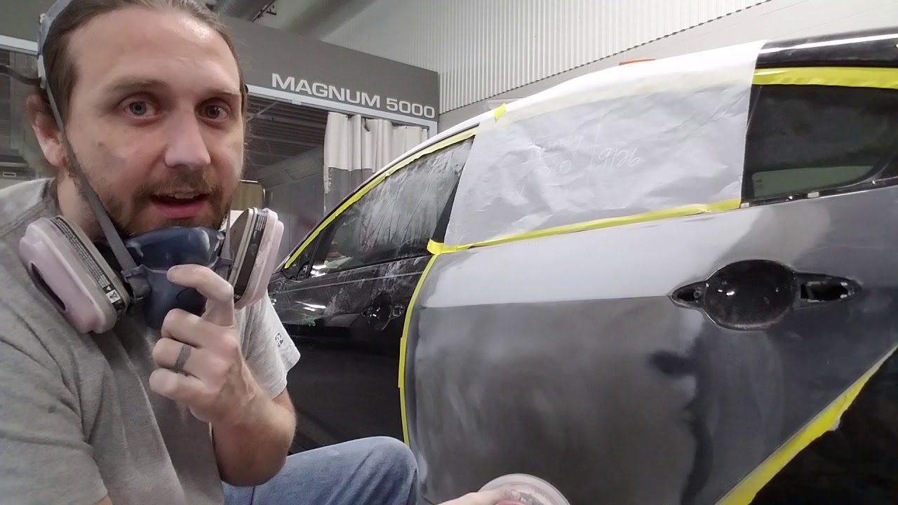 Proper use of guide coat when prepping a car
