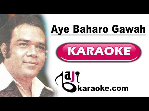 Ae baharo gawah rehna - Video Karaoke - Ahmed Rushdi - by Baji Karaoke