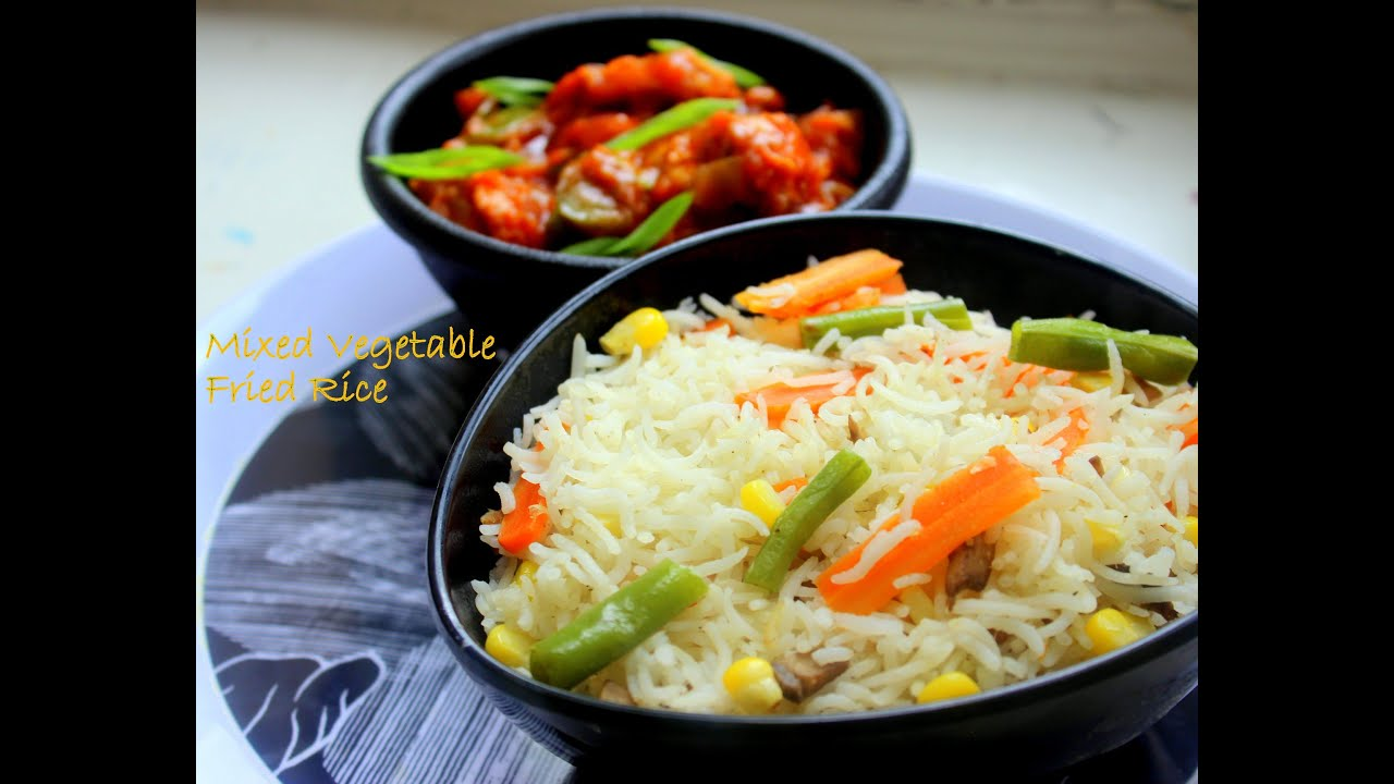 Mixed vegetable fried rice quick and easy recipe youtube ccuart Choice Image