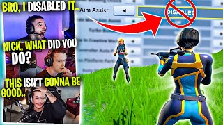 Nickmercs Plays *WITHOUT* Aim Assist?! (MUST WATCH) Ft. Dr Lupo, Jordan Fisher & MoNsTcR