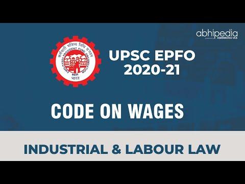 UPSC EPFO   CODE ON WAGES I By abhipedia