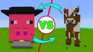 İNEK EV VS DOMUZ EV - Minecraft