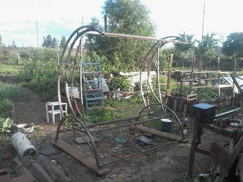 Смотреть Самодельные Садовые качели 1 часть