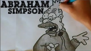 Drawing: Abraham Simpson (The Simpsons)  [HD]