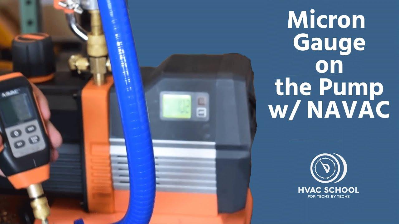 Micron Gauge on the Pump w/ NAVAC
