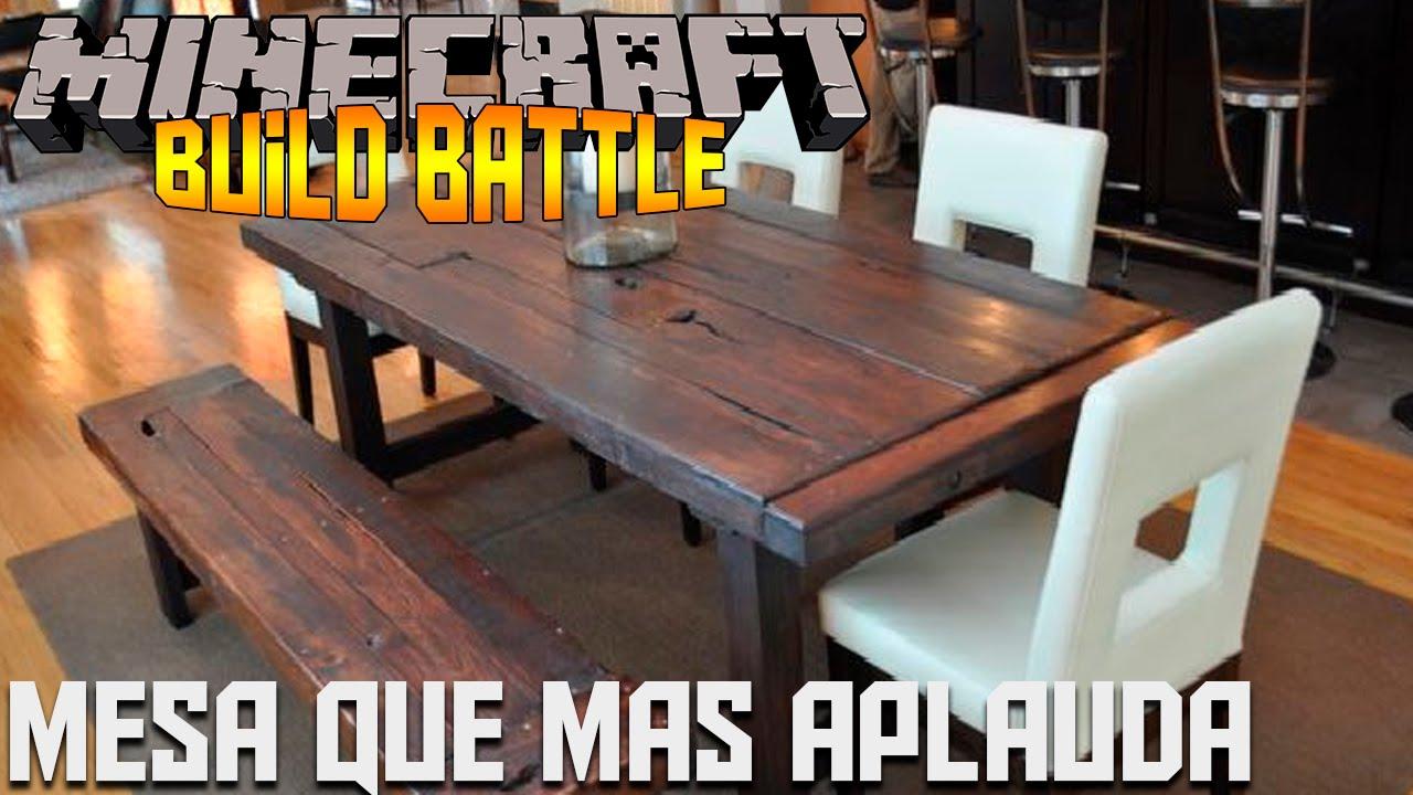 Minecraft minijuegos build battle mesa que mas aplauda for Mesa que mas aplauda