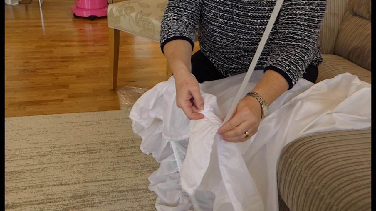 How To Prepare A Hoop For a Wedding Dress - YouTube