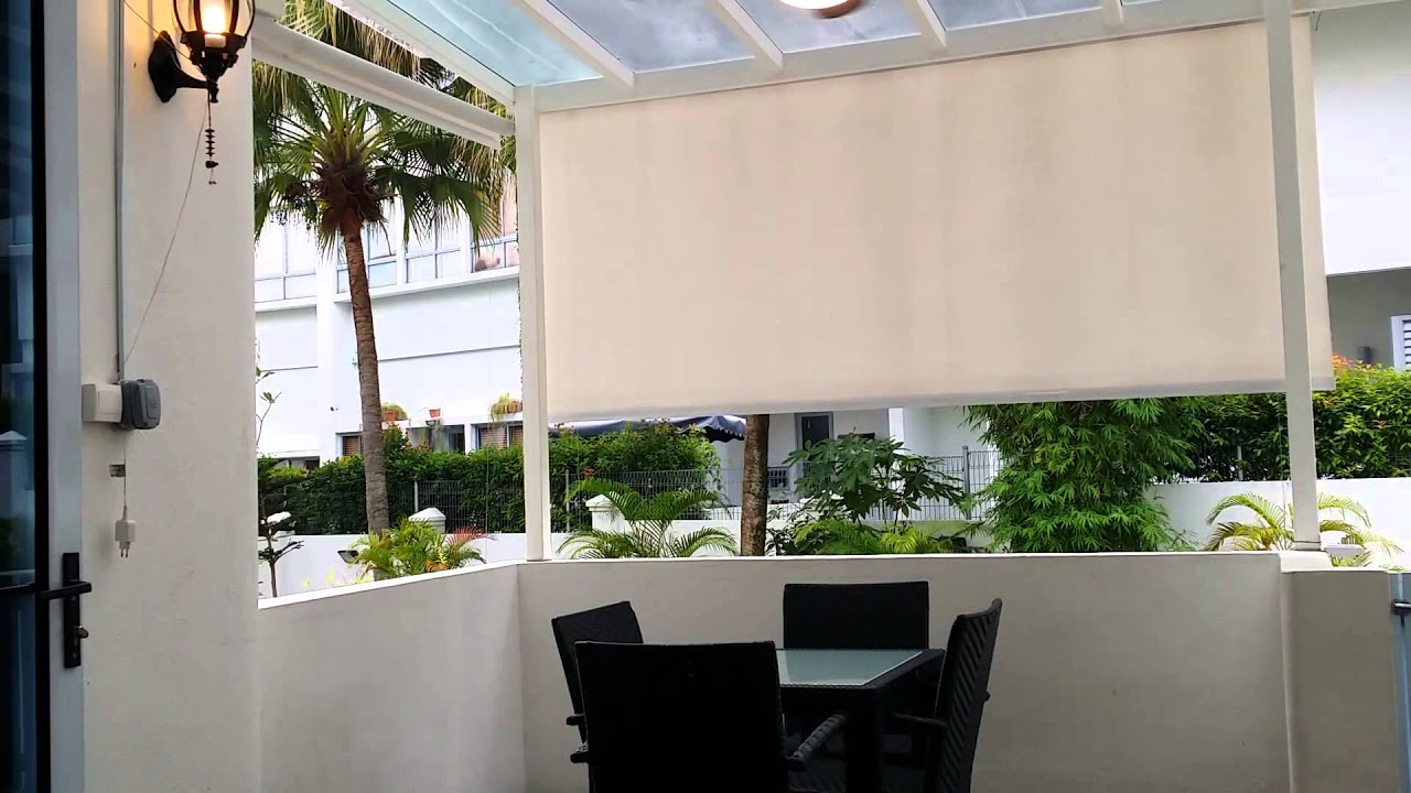 Singapore 1 Motorised Roller Blind In Action Youtube