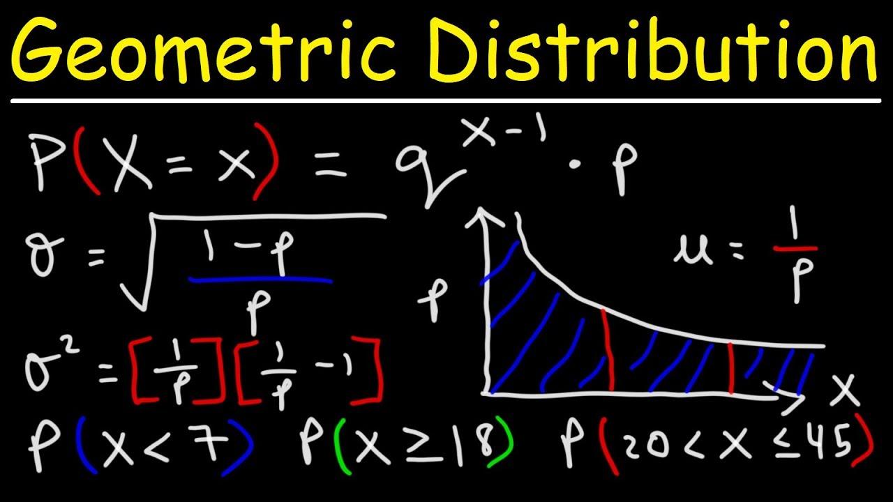 Geometric Distribution - Probability, Mean, Variance, & Standard Deviation