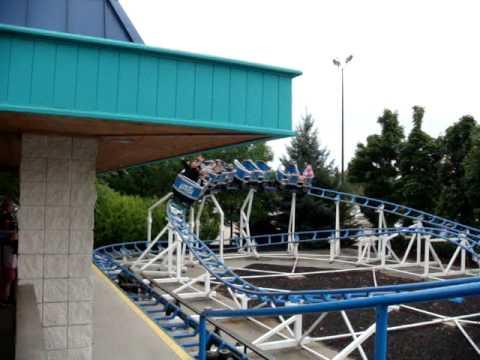 Auste's First Roller Coaster Ride