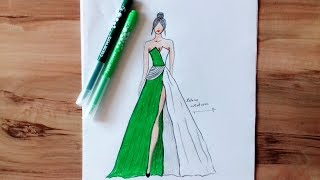 How to Draw Evening Dress