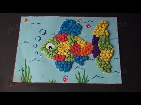 DIY Fish With Kite Paper Balls | Paper Craft Kit | JK Arts 351