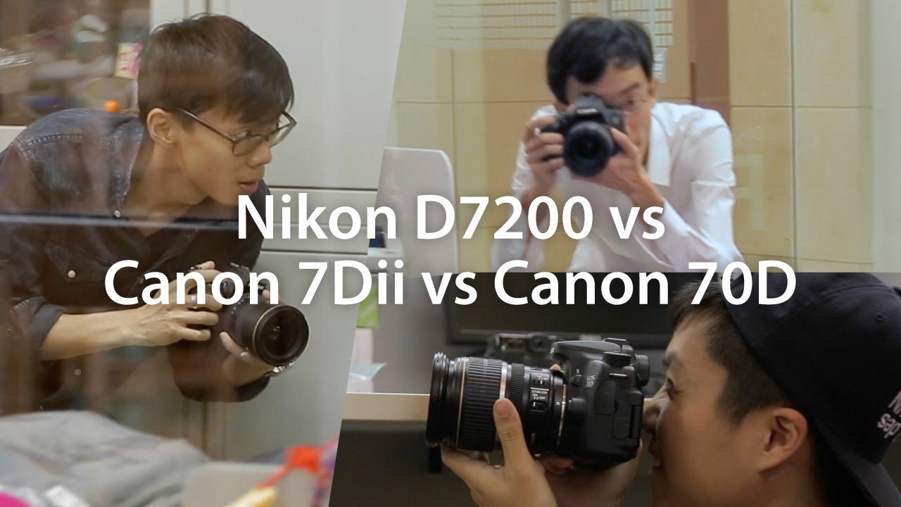 Nikon D7200 vs Canon 7D Mark II vs 70D Shootout
