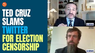 Ted Cruz Slams Twitter for Election Censorship