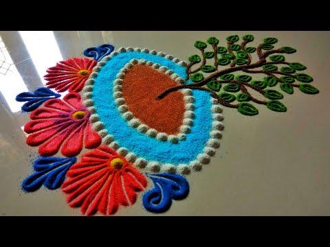 Tulsi vivaah special rangoli | Tulsi puja rangoli | Rangoli design by shalini thumbnail