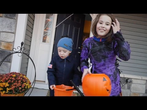 Halloween Trick-or-Treating In Cary, IL.
