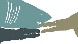 pdfc the redemption liopleurodon vs megalodon vs giant mosasaur