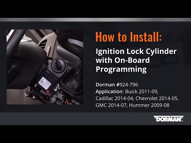 Gm Ignition Lock Cylinder Repair Video By Dorman Products Youtube