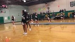 East Cary Middle School cheerleaders 2017-2018 : basketball season halftime