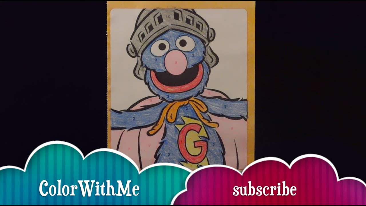 sesame street super grover coloring book learning colors using