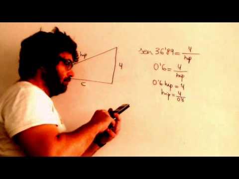 Razones trigonometricas en un triangulo rectangulo Dado lado y angulo Academia Usero Estepona