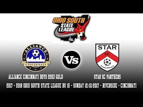 2017 - 2018 OSSL BU15 | Alliance Cincinnati B03 Gold Vs Star SC Panthers