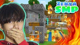 មានអ្នកលួចដុតផ្ទះខ្ញុំនៅក្នុង Minecraft Zenya SMP