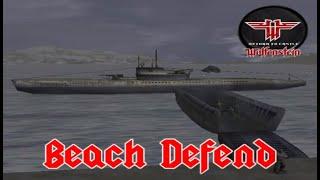 Return to castle Wolfenstein // Beach defend //