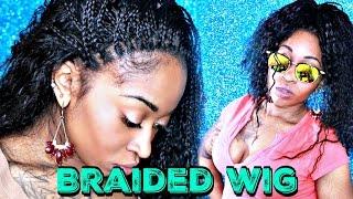 BEST Natural Looking Box Braids Wig EVER!! -  FridayNightHair.Com GLS01 Wig Review ft Kameron Monet
