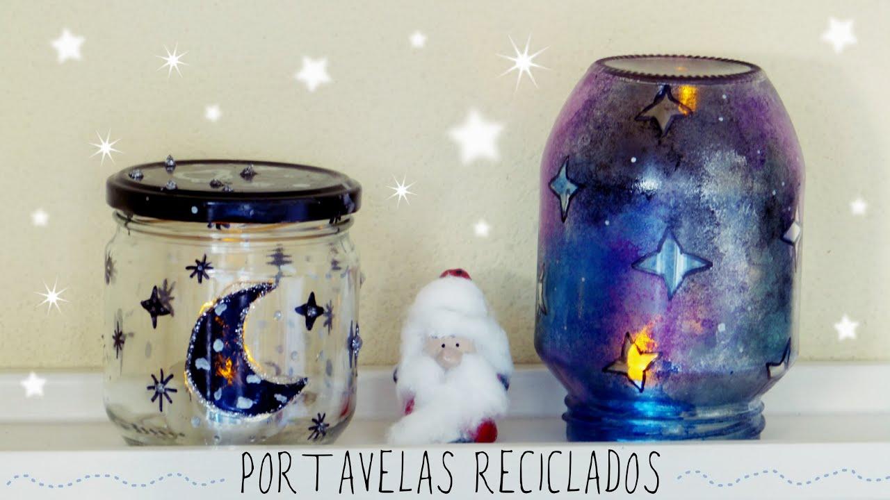 Portavelas de cristal reciclados decora tu cuarto en for Cosas para adornar tu cuarto