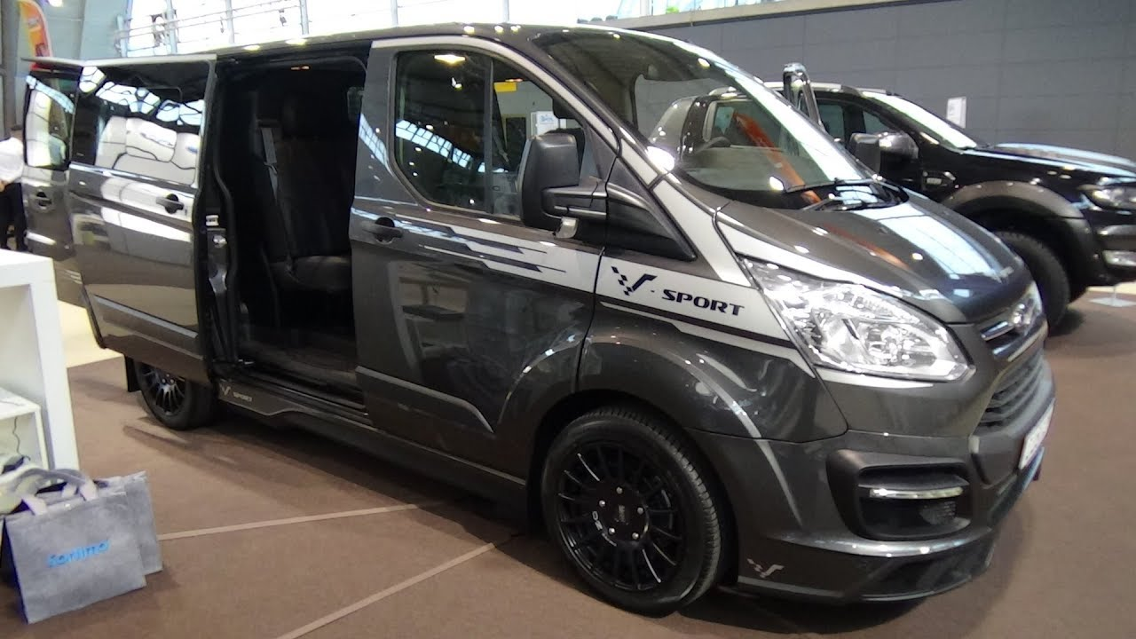 2018 ford transit custom double cabin trend exterior and. Black Bedroom Furniture Sets. Home Design Ideas
