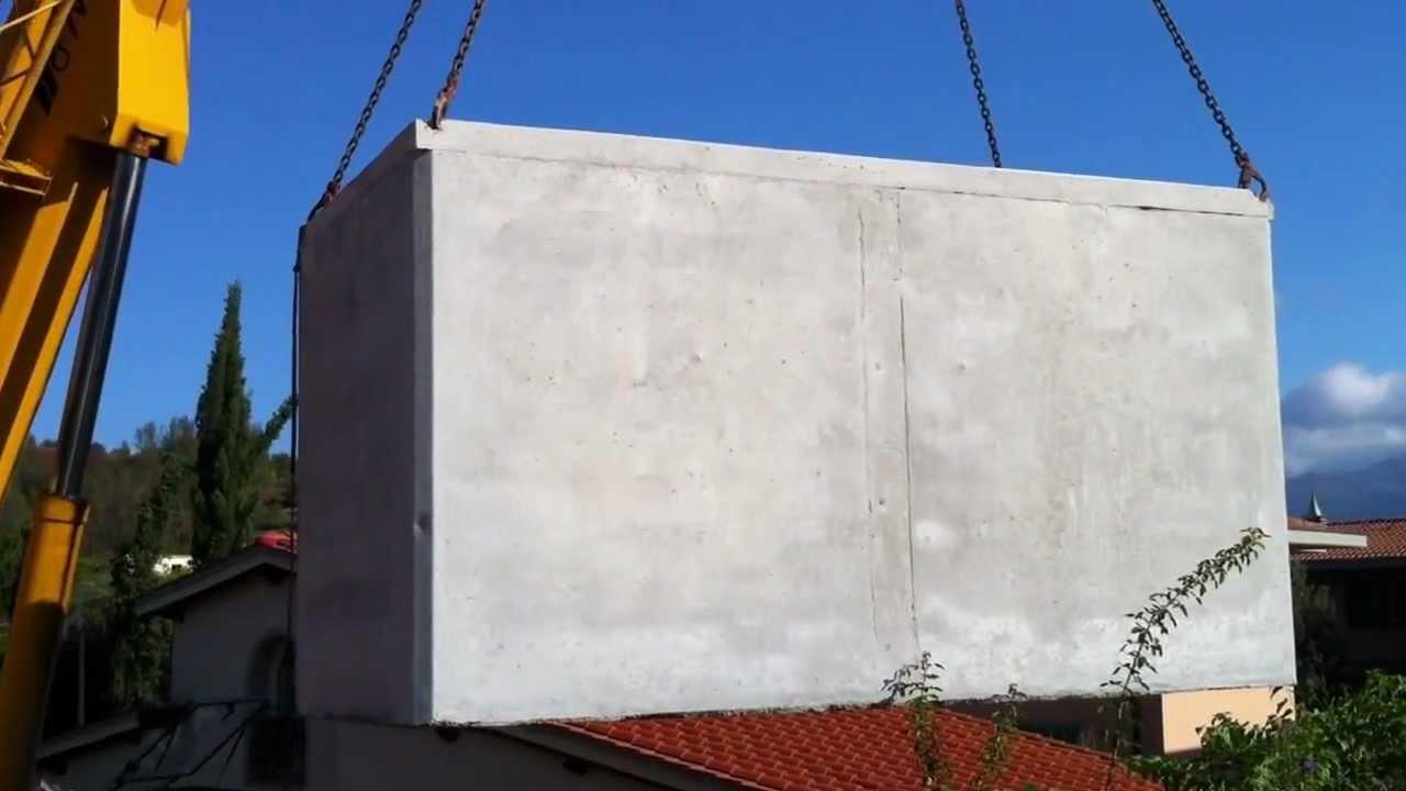 Cisterna vasca in cemento prefabbricata per raccolta acqua - Misuratori di portata per acqua ...