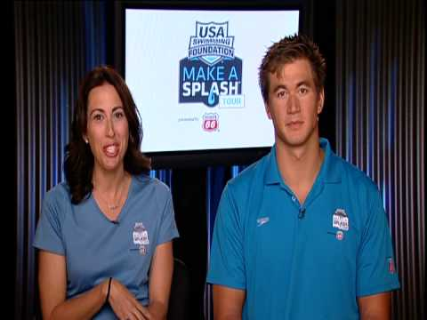 Exclusive chat with Olympic champions Janet Evans and Nathan Adrian