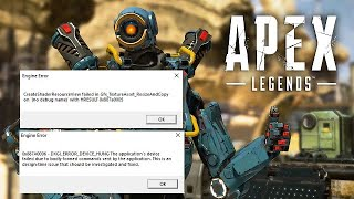 """Apex Legends - How to fix common Engine Errors, """"DXGI_ERROR_DEVICE"""" & Others. On PC. For Nvidia"""
