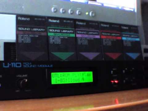 roland u 110 rom play demo youtube rh youtube com roland u-110 pcm sound module manual roland u 110 service manual