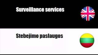 ENGLISH LITHUANIAN   Security services