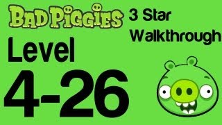 Bad Piggies 4-26 Flight in the Night Level 4-26 3 Star Walkthrough | WikiGameGuides