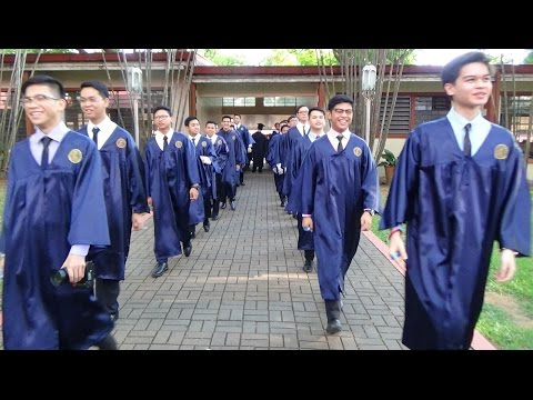 Processional of the Ateneo SHS Class of 2017, the last Ateneo HS all-male batch