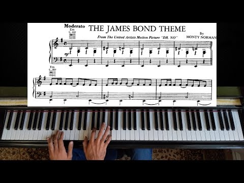Dr No  The James Bond 007 Theme  Piano Tutorial